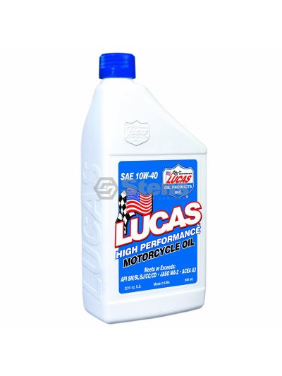 Moly Motorcycle Oil SAE 10W-40/Case Of 6 Quarts