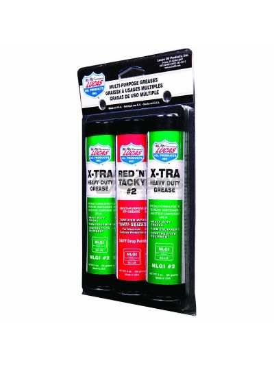 Grease 3 Pack 3 oz. Pack/1 Red and 2 X-tra