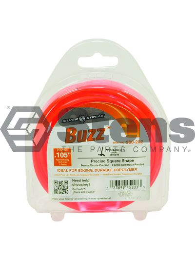 Buzz Trimmer Line .105 30' Clam Shell