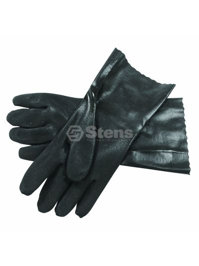 Black Dble. Dip PVC Glove Large