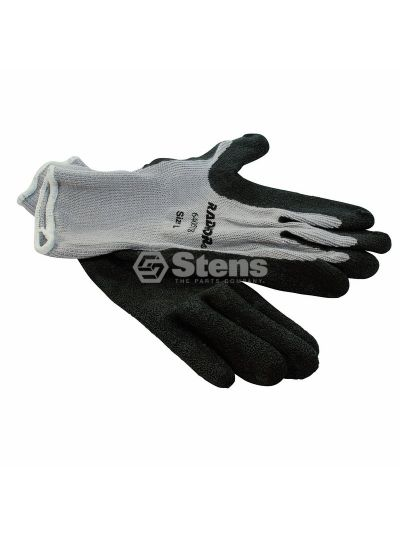 Coated Work Glove Gray String Knit, Medium