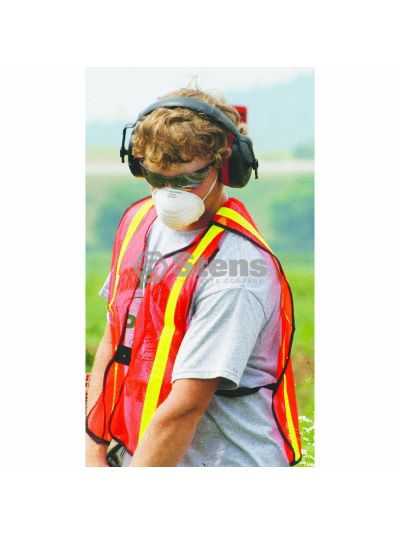 Safety Vest Vertical Stripe F/B