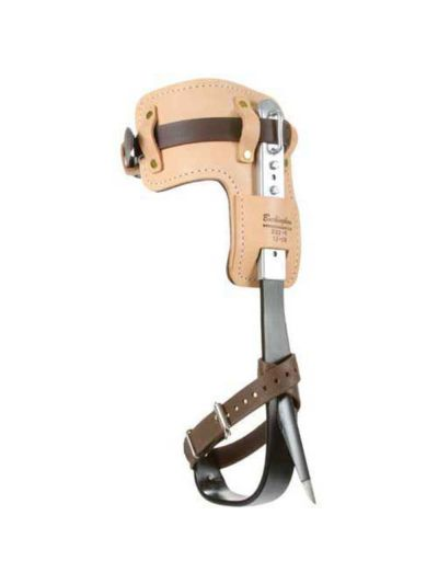 Buckingham Steel Contoured Tree Climber Set with Ring Style Straight Stirrup, Permanent Gaffs and Leather Straps & Pads