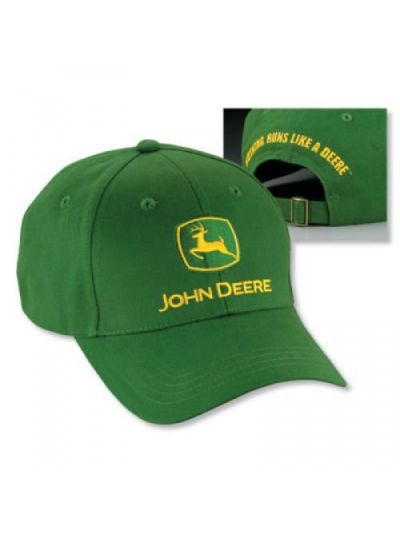 John Deere Green Brushed Twill Hat (LP14418)